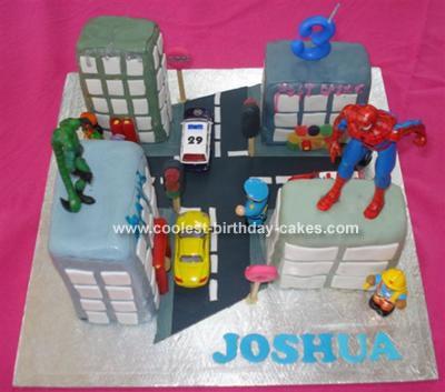 Joshua's Spiderman Cake