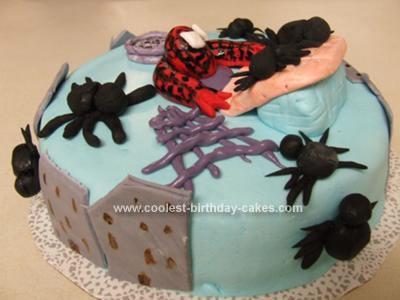 Homemade Spiderman Climber Cake
