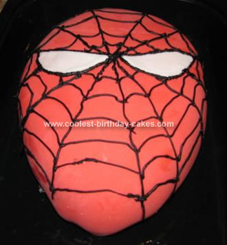 Homemade Spiderman Cake