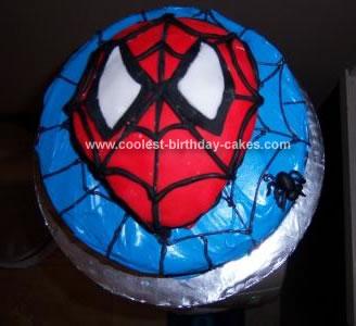 Homemade Spiderman Cake
