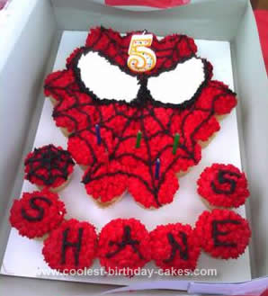 Homemade Spiderman Cupcakes