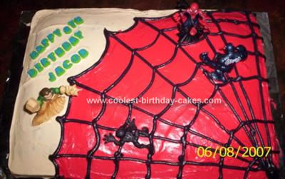 Homemade Spidey Cake