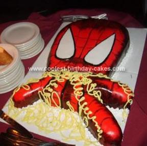 Homemade Spidey Cake