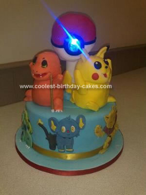 Homemade Spinning Pokemon Cake