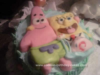 Homemade Sponge Bob and Patrick Cake