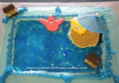 Homemade Sponge Bob Birthday Cake
