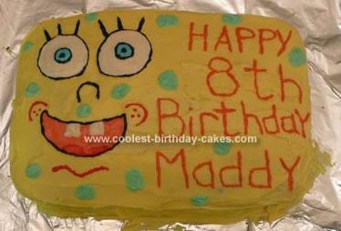 Homemade Sponge Bob Cake