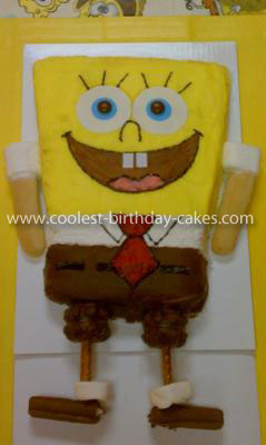 Coolest Sponge Bob Square Pants Birthday Cake