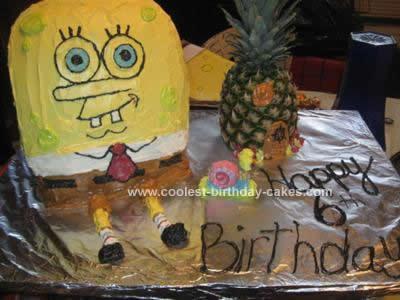 Homemade Spongebob and Pineapple House Cake