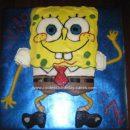 Homemade Spongebob Birthday Cake