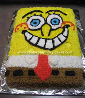 Homemade Spongebob Birthday Cake