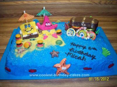 Prime Coolest Spongebob Birthday Cake Funny Birthday Cards Online Alyptdamsfinfo