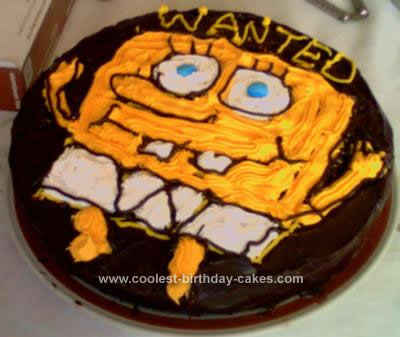 Homemade Spongebob Birthday Cake Design