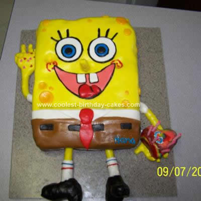 Groovy Coolest Spongebob Birthday Cake Idea Funny Birthday Cards Online Alyptdamsfinfo