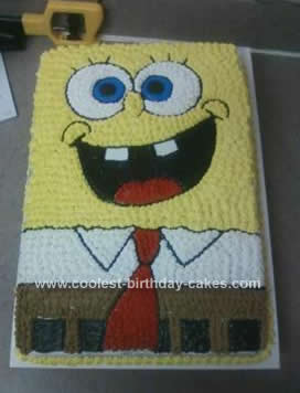 Homemade Spongebob Birthday Cake Idea