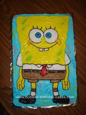 Sensational 350 Coolest Homemade Spongebob Cakes For The Diy Birthday Cake Funny Birthday Cards Online Fluifree Goldxyz