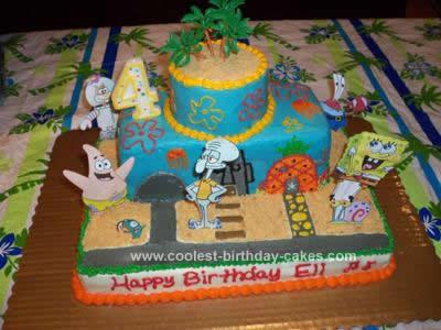 Wondrous Coolest Spongebob Birthday Cake Idea Funny Birthday Cards Online Alyptdamsfinfo