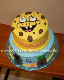 Fabulous Coolest Spongebob Cake Funny Birthday Cards Online Kookostrdamsfinfo