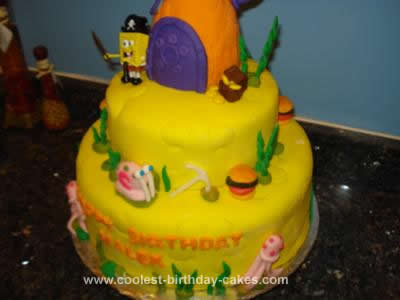 Homemade Spongebob Cake