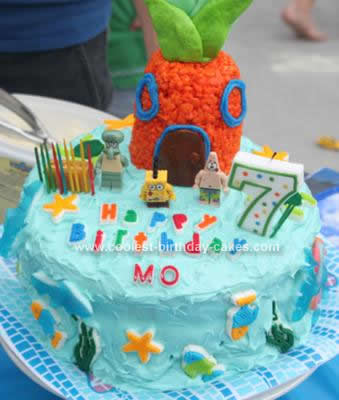 Homemade  SpongeBob Cake Design