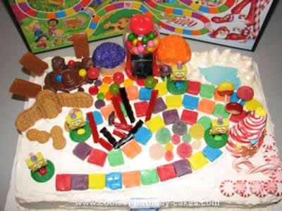 Homemade Spongebob Candyland Birthday Cake