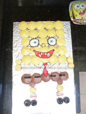 Homemade SpongeBob Cupcake Cake