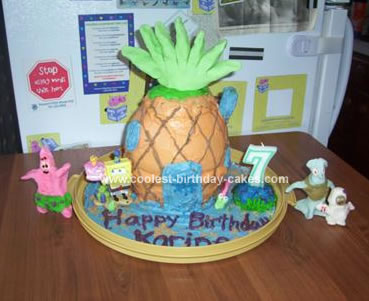 Homemade Spongebob Pineapple Cake