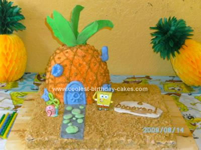 Homemade Spongebob Pineapple House Cake