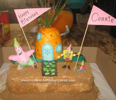 Homemade Spongebob Scene Birthday Cake