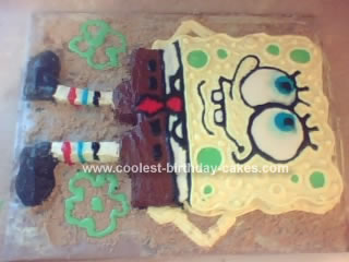 Homemade Spongebob Squarepants Cake
