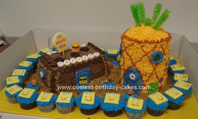 Homemade Spongebob Squarepants Cake