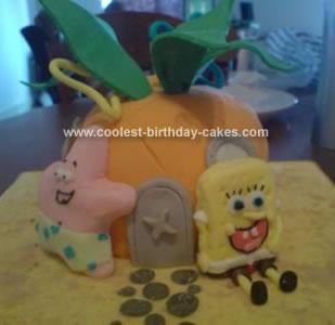Homemade Spongebobs House Birthday Cake