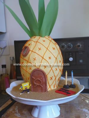 Homemade Spongebobs Pineapple House Birthday Cake