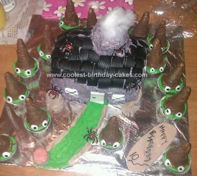 Homemade Spooky Birthday Cake