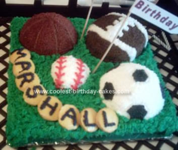 Groovy Coolest Homemade Sports Ball Cakes Funny Birthday Cards Online Bapapcheapnameinfo