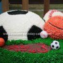 Homemade Sports Ball Birthday Cake