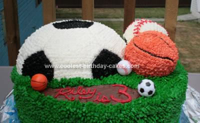 Homemade Sports Ball Birthday Cake
