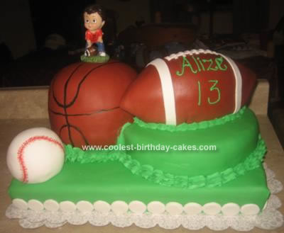 Homemade Sports Birthday Cake