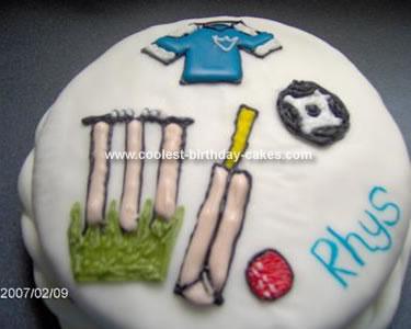 Homemade Sports Cake