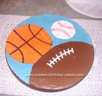 Homemade Sports Cake Design