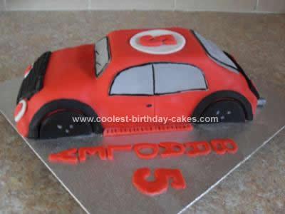 Homemade Sports Car Cake Idea