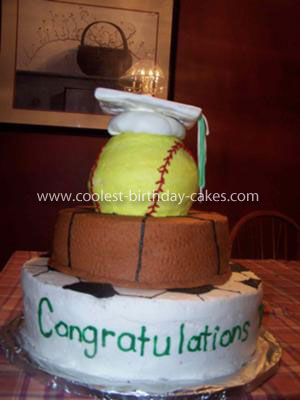 Coolest Sports Graduation Cake