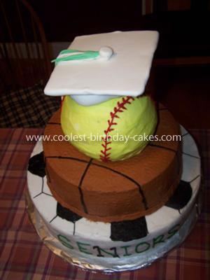 Coolest Sports Graduation Cake