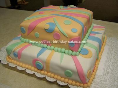 Homemade Spots And Stripes Birthday Cake
