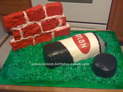 Homemade Spray Paint Can Cake