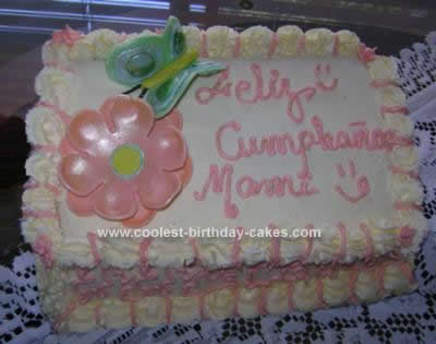 Homemade Spring Birthday Cake Idea