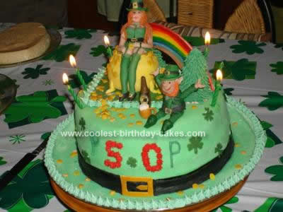 Homemade St Patrick's Day 50th Birthday Cake