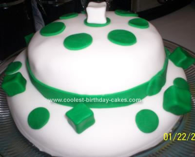 Homemade St Patrick's Day Birthday Hat Cake