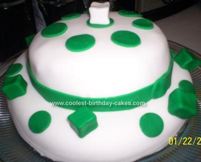 Homemade St Patrick's Day Birthday Hat Cake