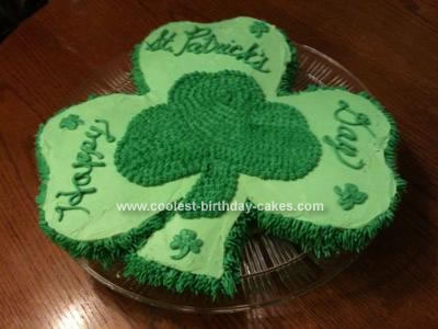 Homemade St. Patrick's Day Cake